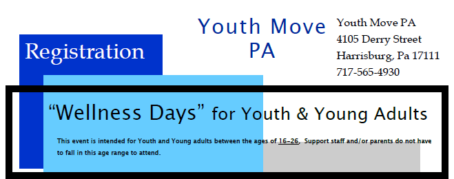 """Wellness Days"" for Youth & Young Adults"
